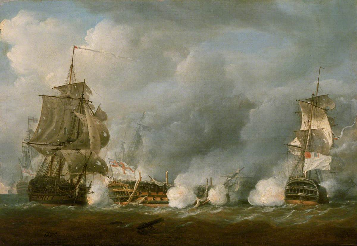 The 'Defence' at the Battle of the First of June, 1794