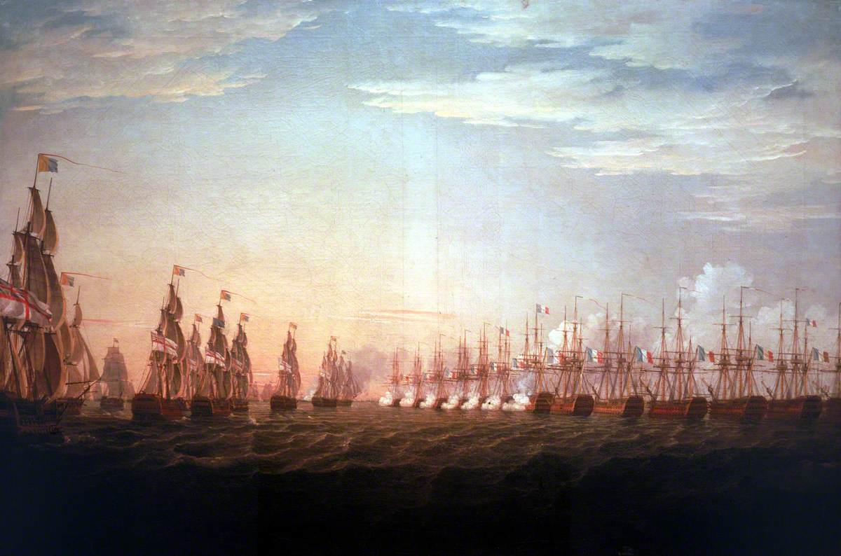 The Battle of the Nile, 1 August 1798: Beginning of the Action