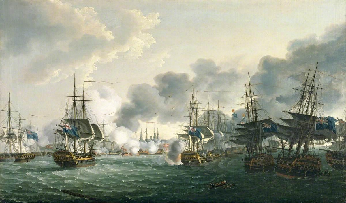 The Battle of Copenhagen, 2 April 1801