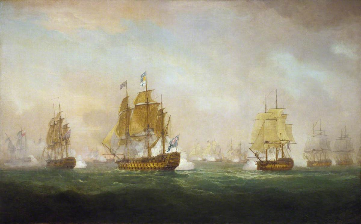 Admiral Sir Robert Calder's Action off Cape Finisterre, 23 July 1805
