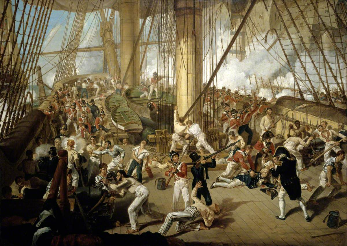 The Fall of Nelson, Battle of Trafalgar, 21 October 1805