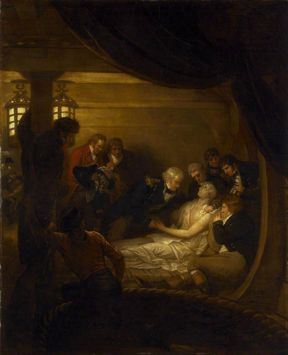 The Death of Lord Nelson in the Cockpit of the Ship 'Victory'