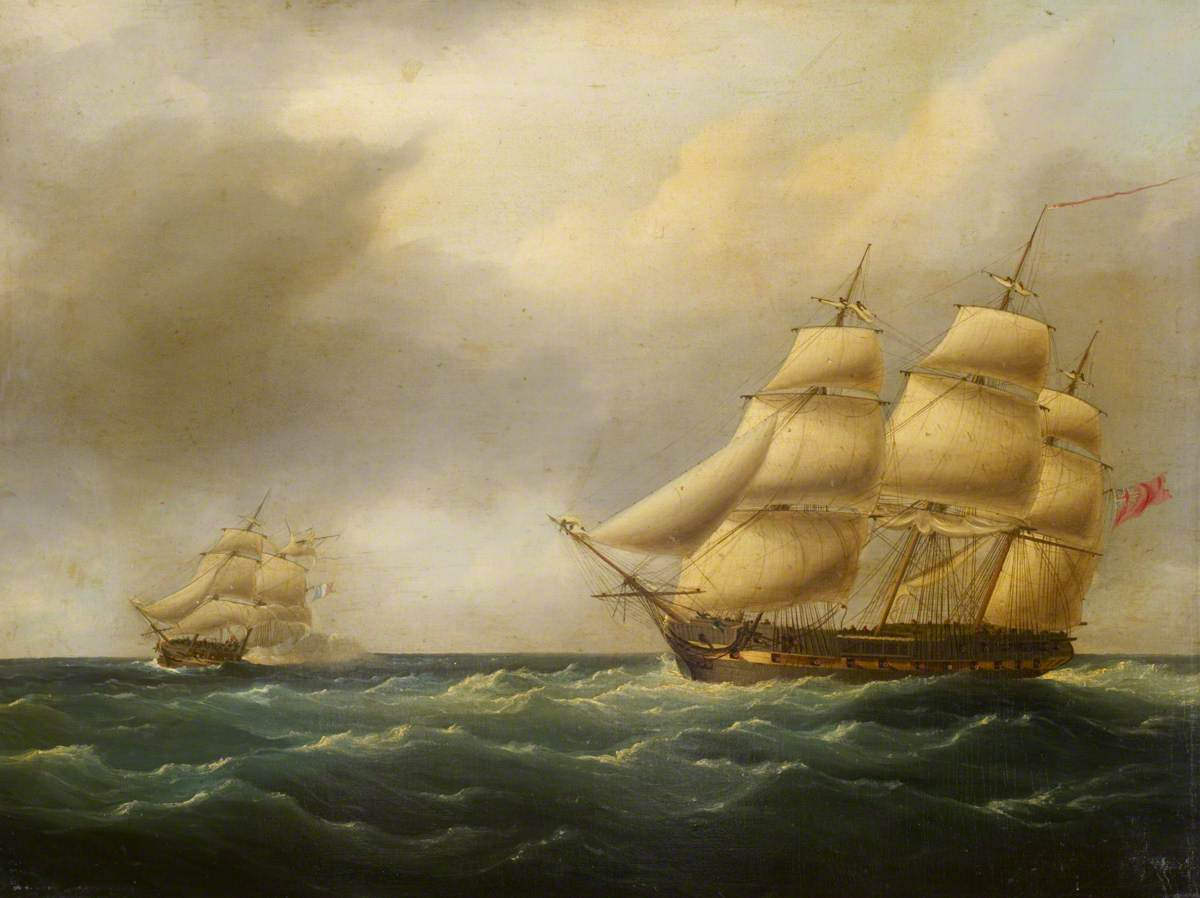 Action between HMS 'Hydra' and the 'Furet', 27 February 1806