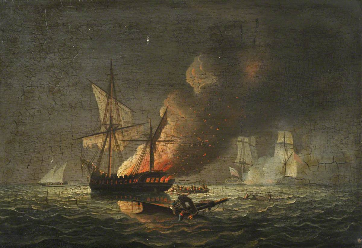 HMS 'Seahorse' Capturing the 'Badiri-i-Zaffer', 6 July 1808