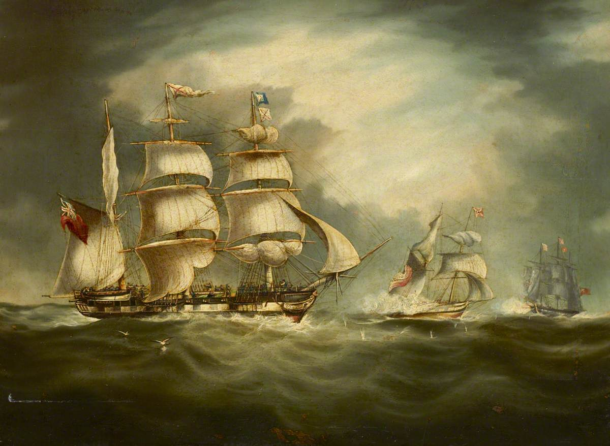 Capture of the 'Gypsy', 30 April 1812