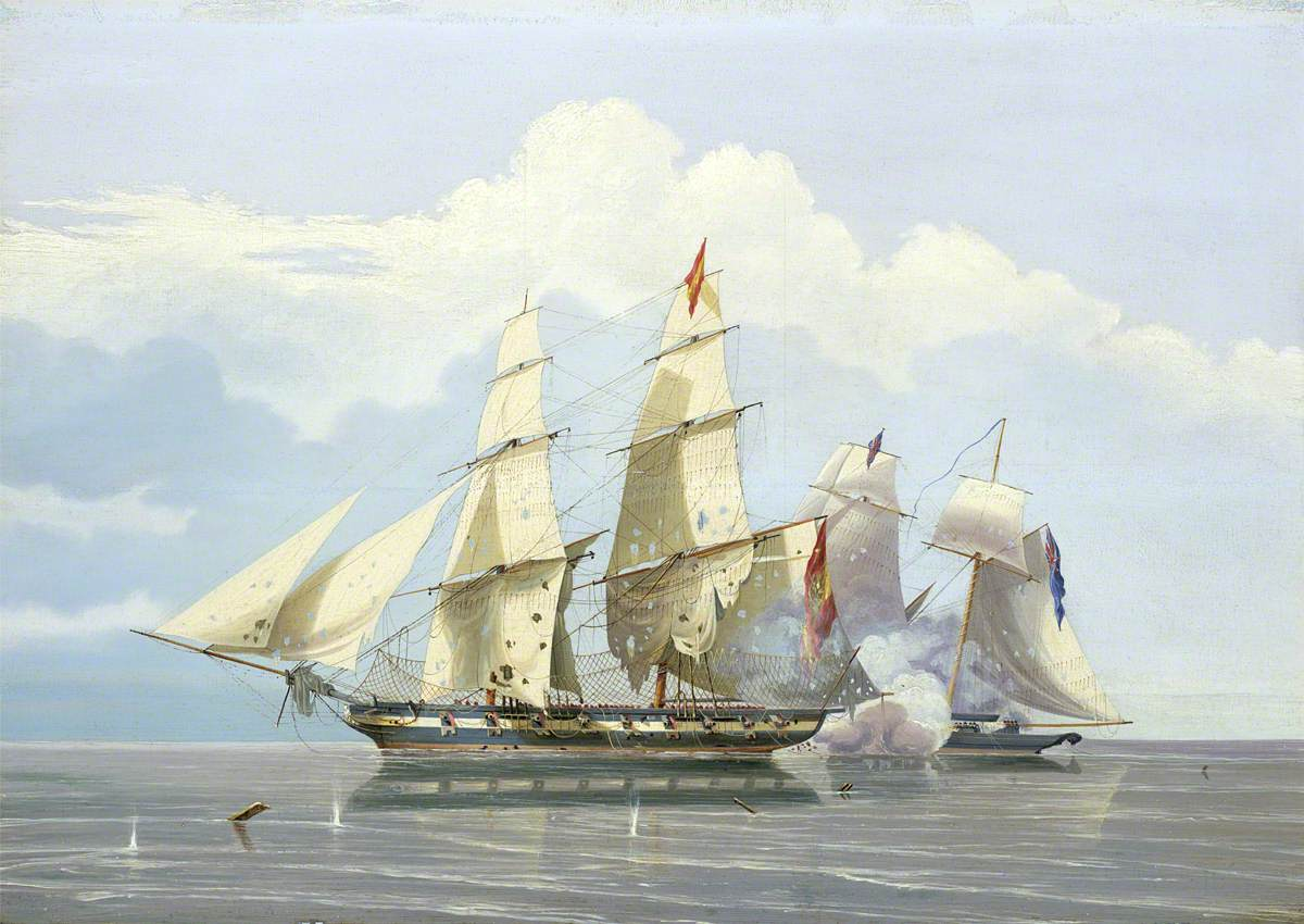 The Capture of the Slaver 'Formidable' by HMS 'Buzzard', 17 December 1834