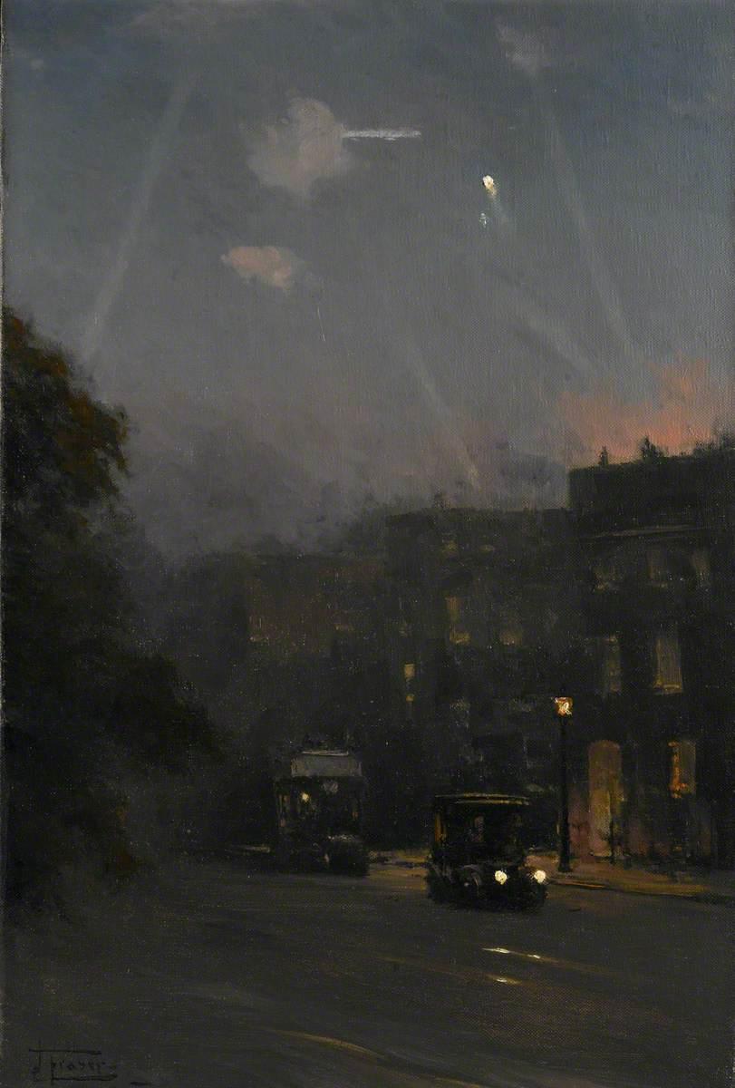 A Zeppelin Raid, 8 October 1915