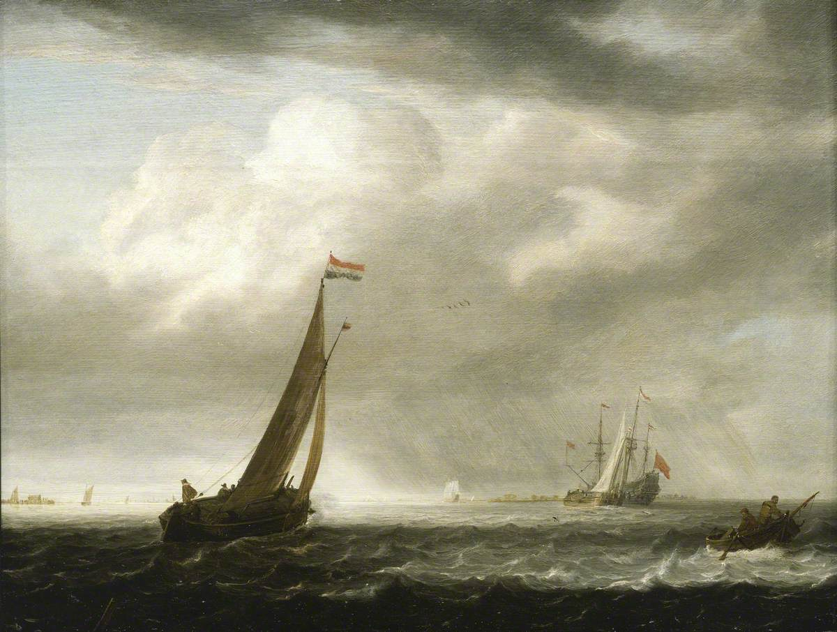 A Squally Day in a Dutch Estuary