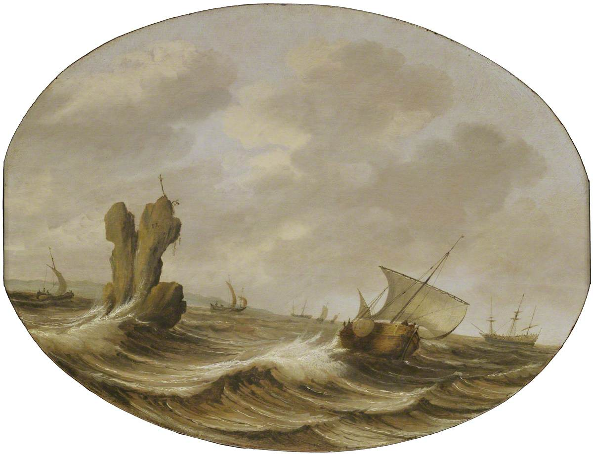 Shipping in a Breeze off a Rock