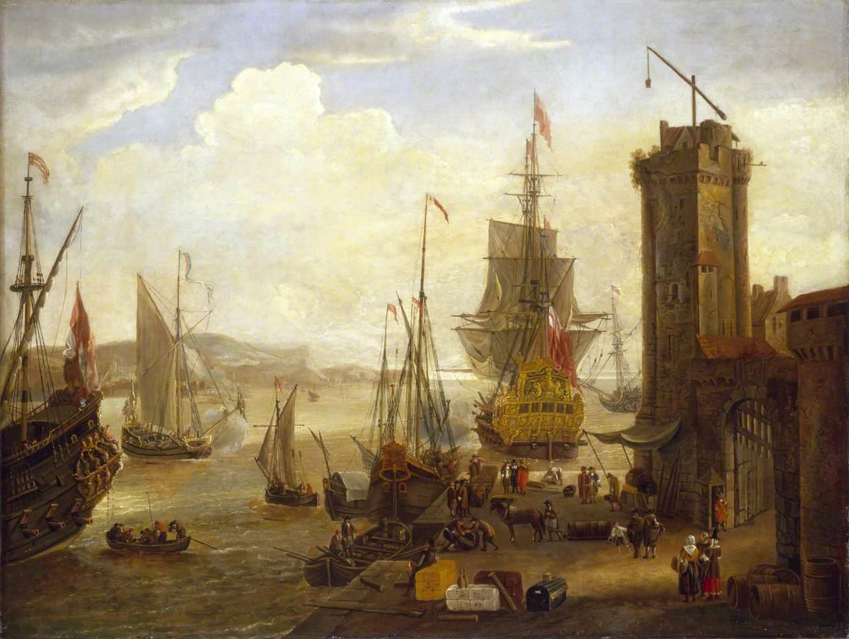 Dock Scene at a British Port