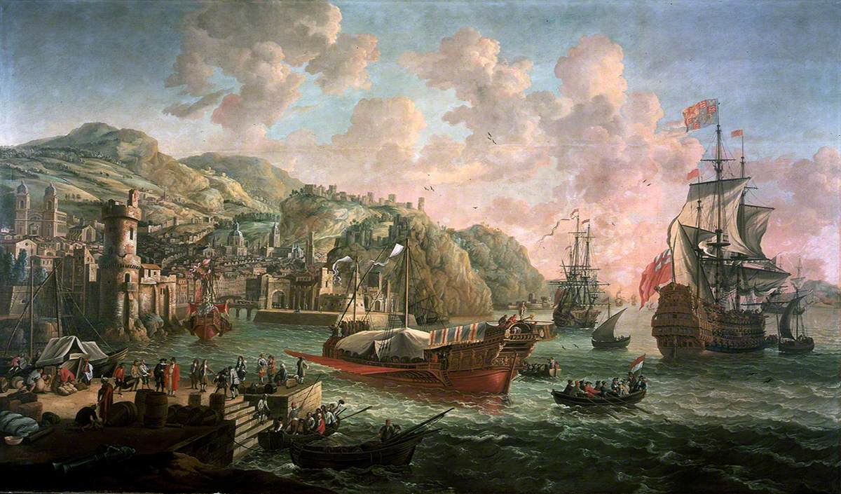Ships, Galleys and Other Vessels off an Italian Port
