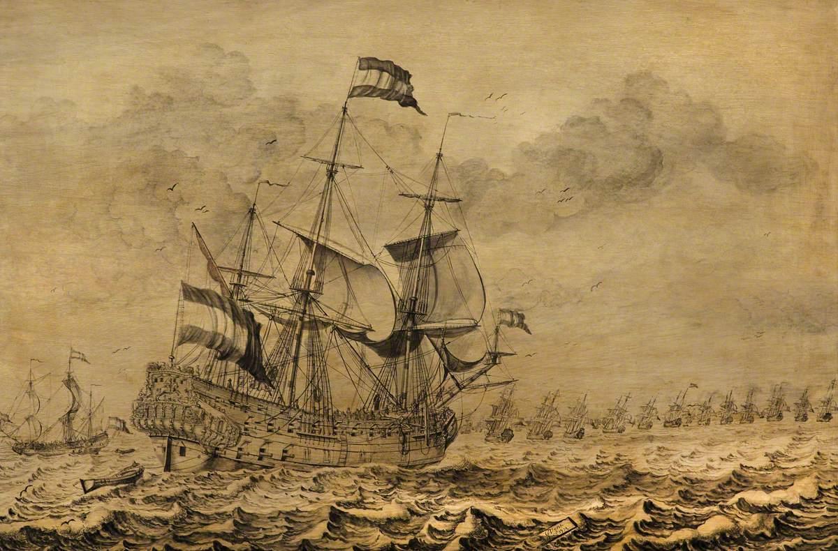 Dutch Men-of-War Joining the Fleet