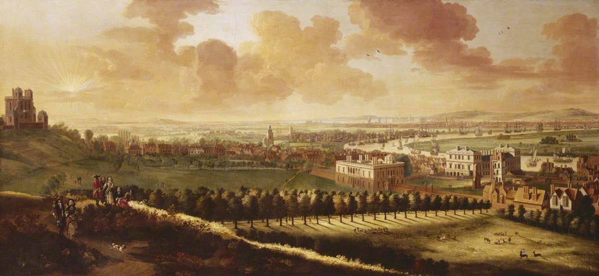 Greenwich and London from One Tree Hill, about 1680