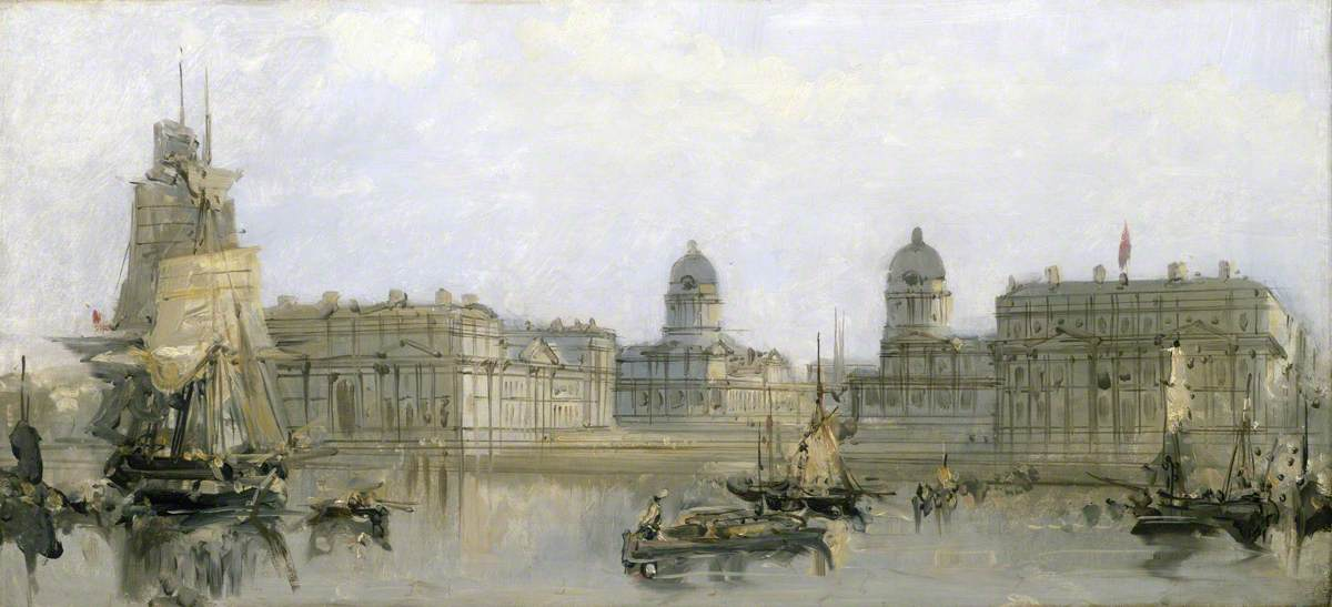 Greenwich Hospital from the Thames