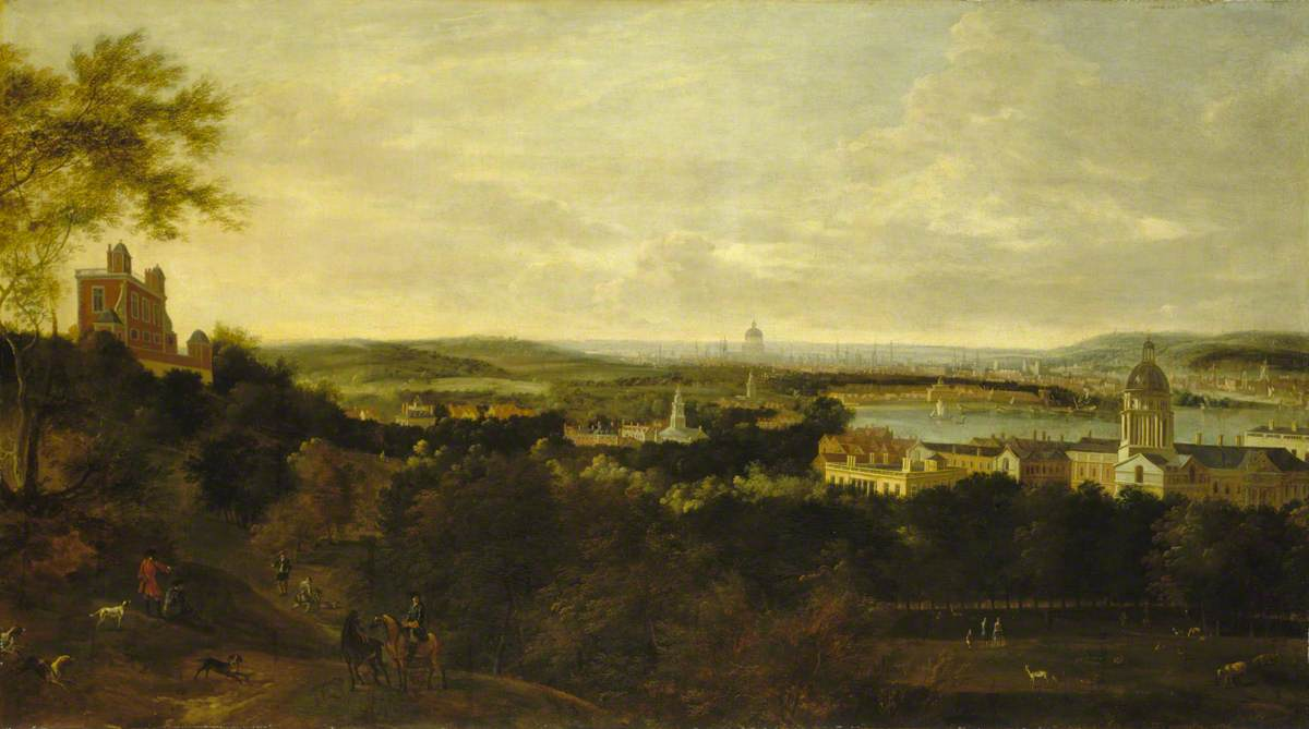View of Greenwich and the River Thames from Greenwich Park