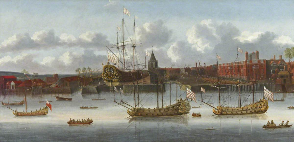 East India Company Ships at Deptford