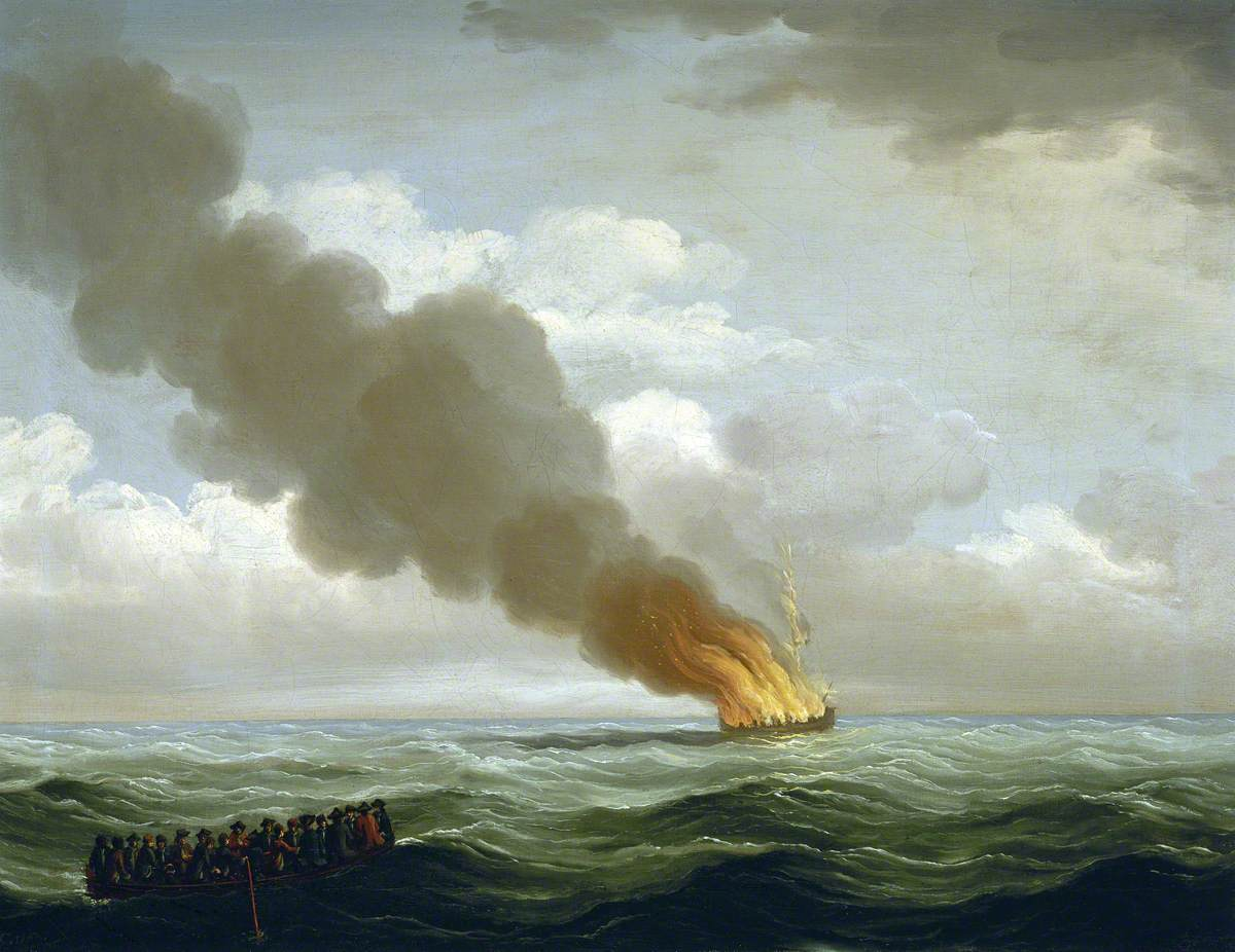 The 'Luxborough' Galley Burnt Nearly to the Water, 25 June 1727