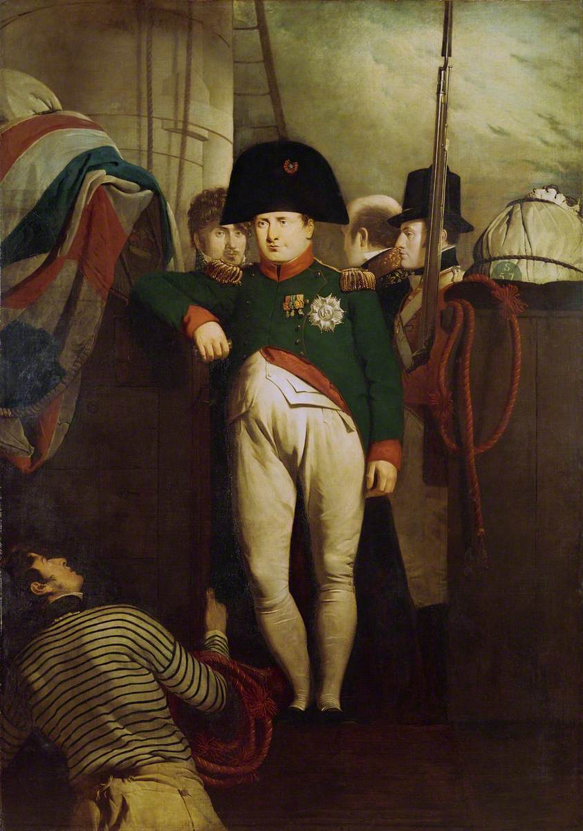 Napoleon Bonaparte on Board the 'Bellerophon' in Plymouth Sound