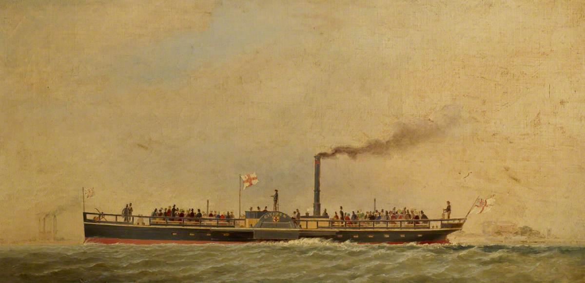 The Paddle Steamer 'Citizen'
