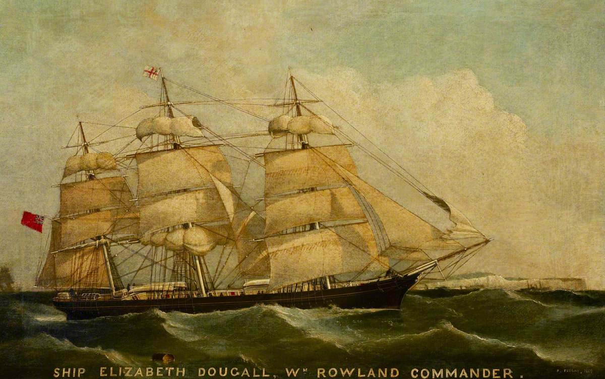 The Ship 'Elizabeth Dougall' Under Sail