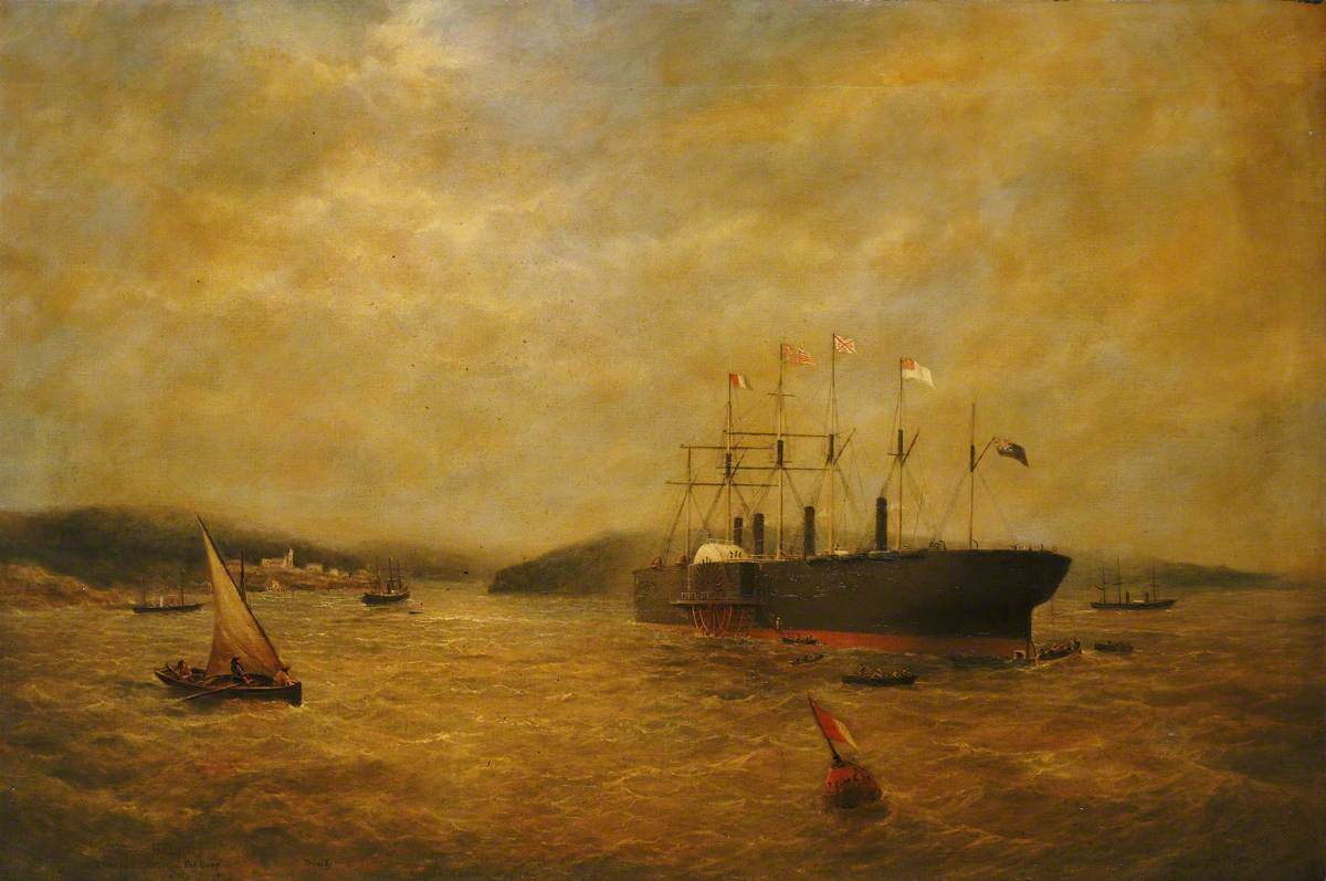 The Steamship 'Great Eastern' in a Choppy Sea