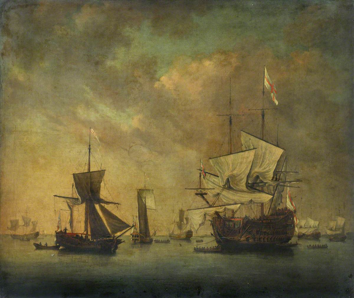 English Squadron at Anchor