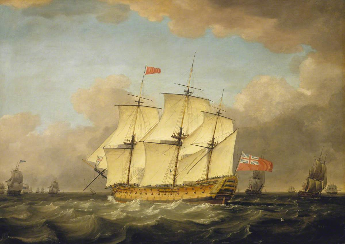The 'Victory' Leaving the Channel in 1793