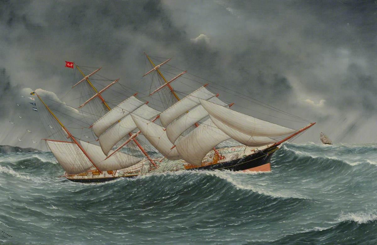 The Barque 'Camphill' in a Rough Sea