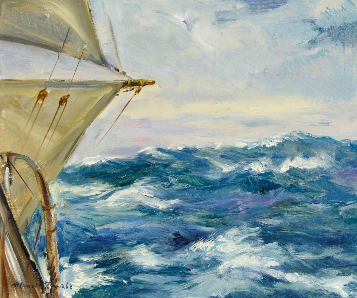 The Sail Training Barque 'Nipon Maru': View Over the Port Gunwale