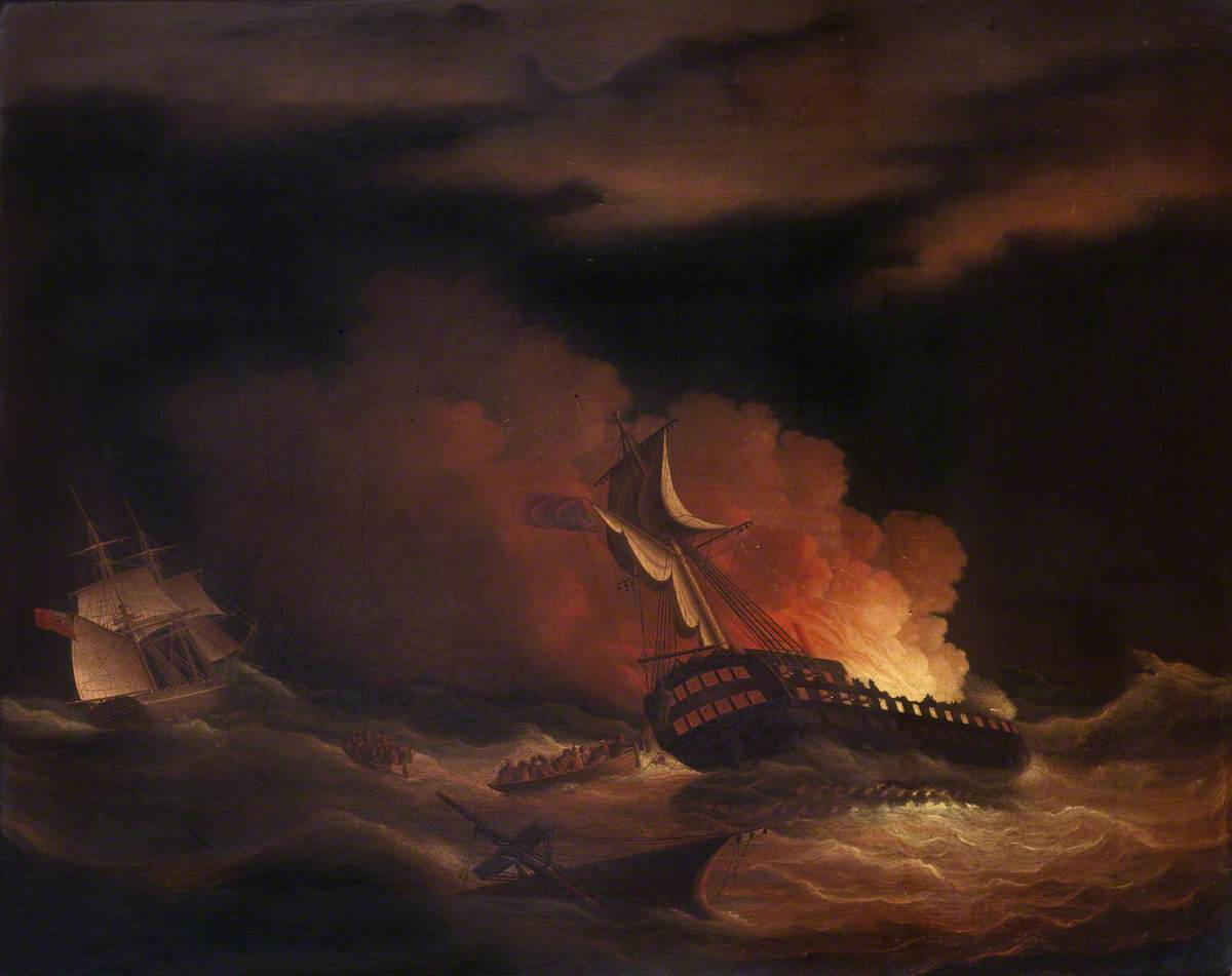 The Loss of the East Indiaman 'Kent' in the Bay of Biscay, 1 March 1825