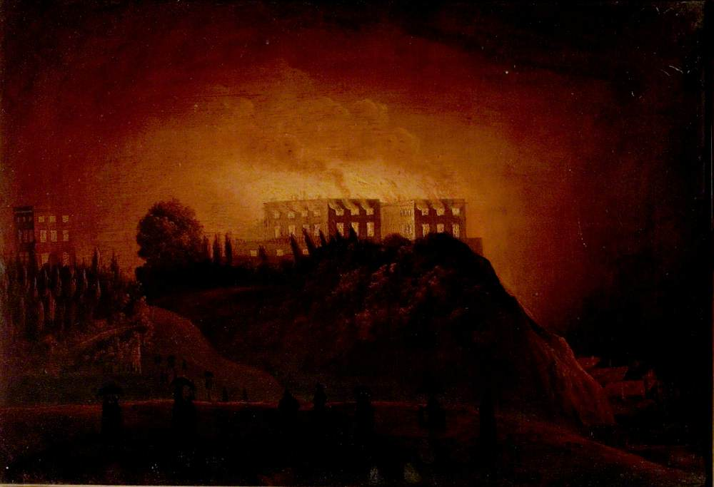 Nottingham Castle on Fire, 10 October 1831