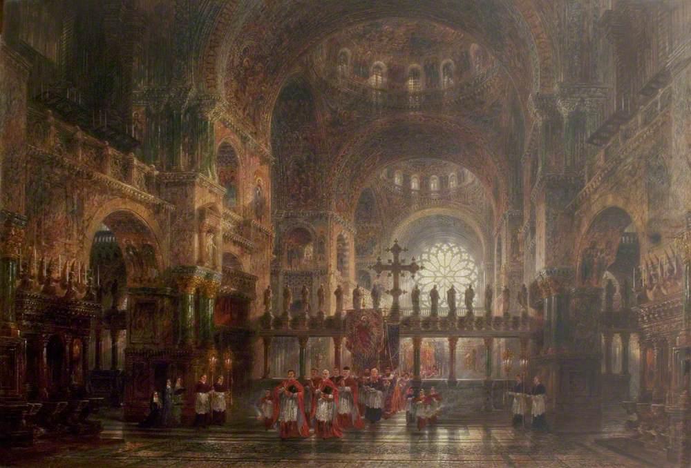 Interior of St Mark's Basilica, Venice