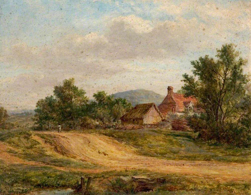 A Country Road and Cottage