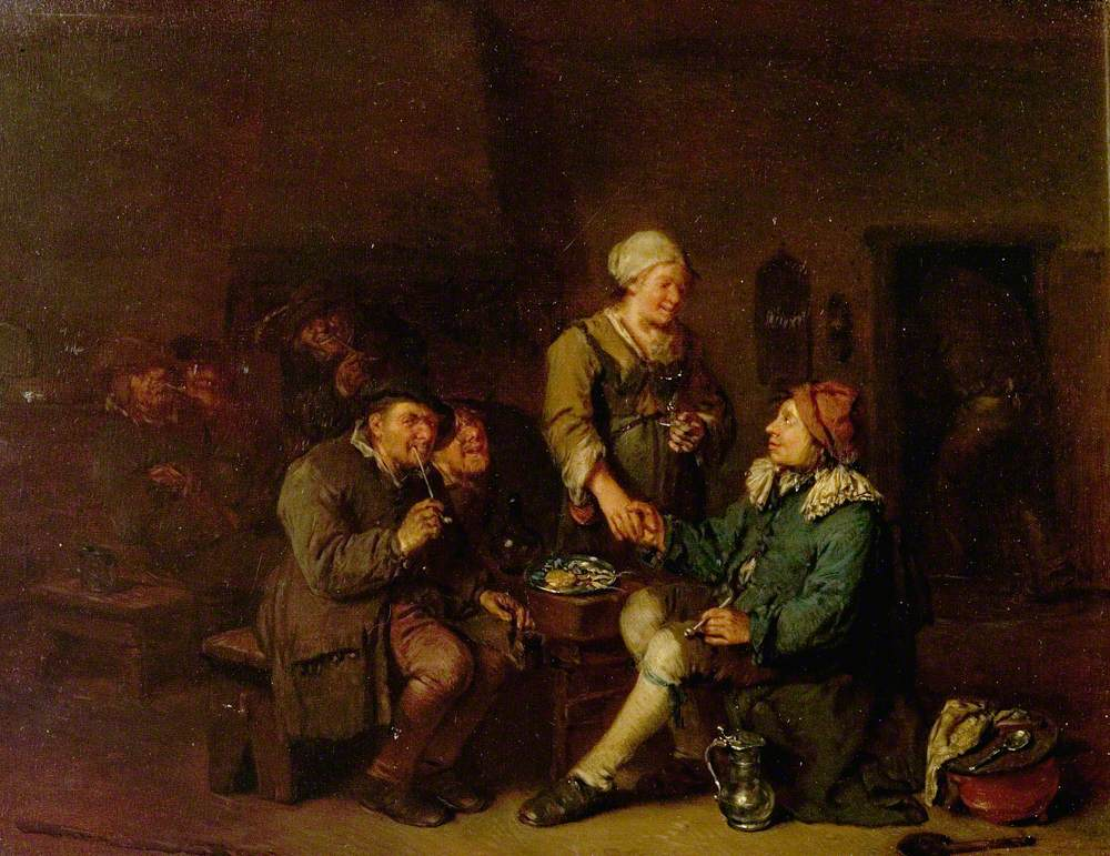 Interior of a Tavern with Smokers