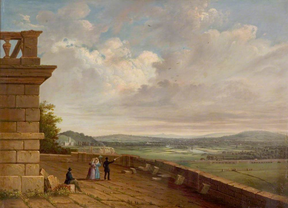 View from the Nottingham Castle Terrace Looking East