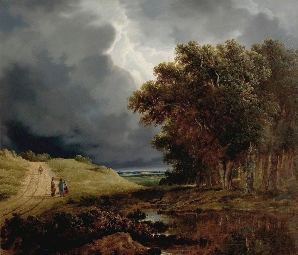 The Edge of a Forest, Storm Coming On