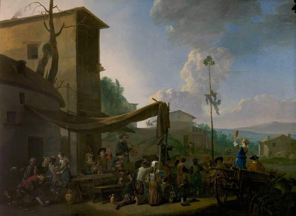 A Village Festival, Peasants Merrymaking Outside an Inn