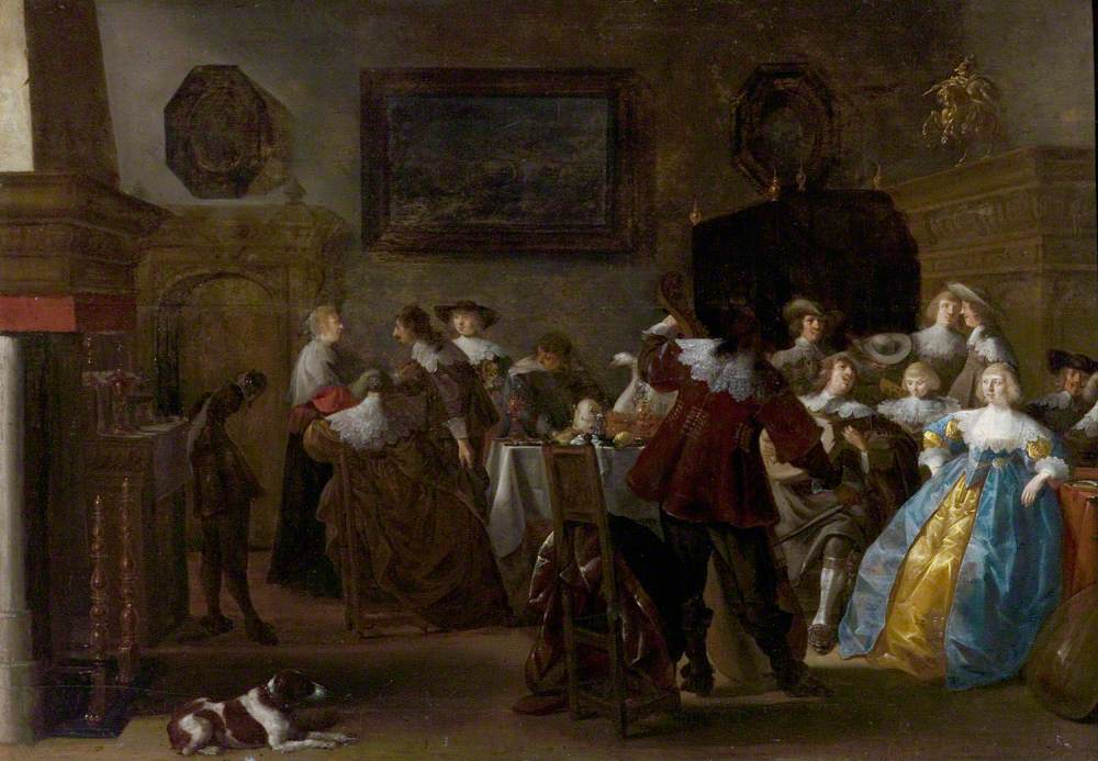 Merry Company (Interior with Cavaliers and Ladies)