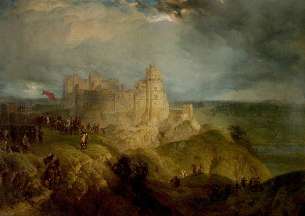 Nottingham Castle (Charles I Raising His Standard, 24 August 1642)