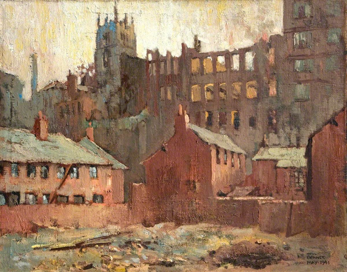 After the Blitz, near Trivett's Works from Cliff Road, Nottingham