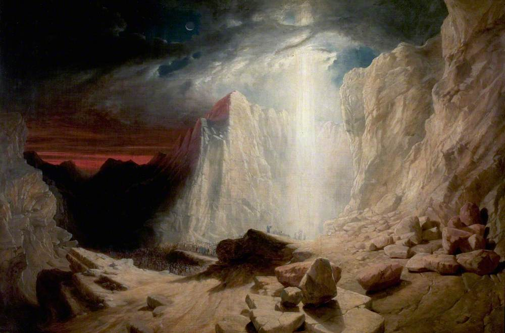 The Israelites Led by the Pillar of Fire by Night