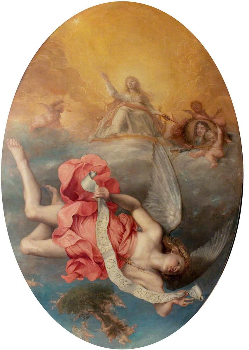Astraea Returns to Earth (The Apotheosis of Charles II)
