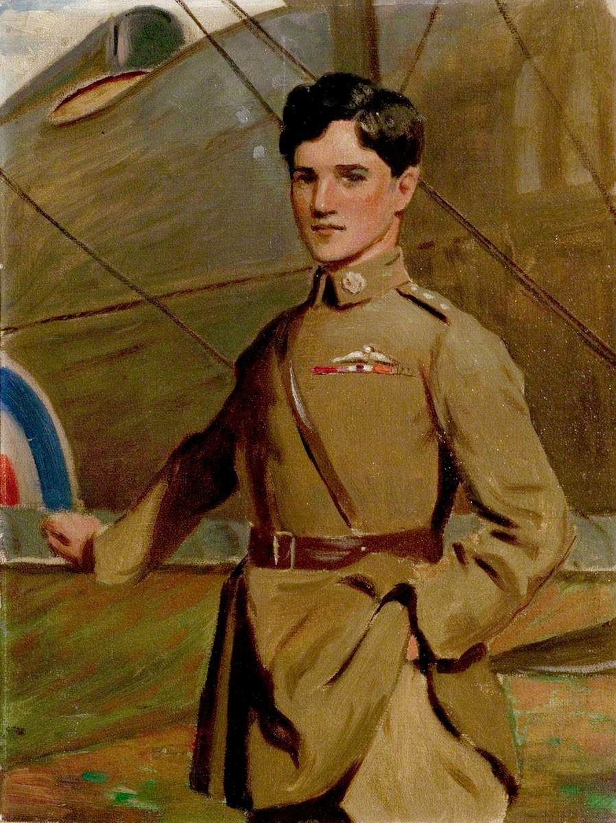 Study for 'Captain Albert Ball (1896–1917), VC'