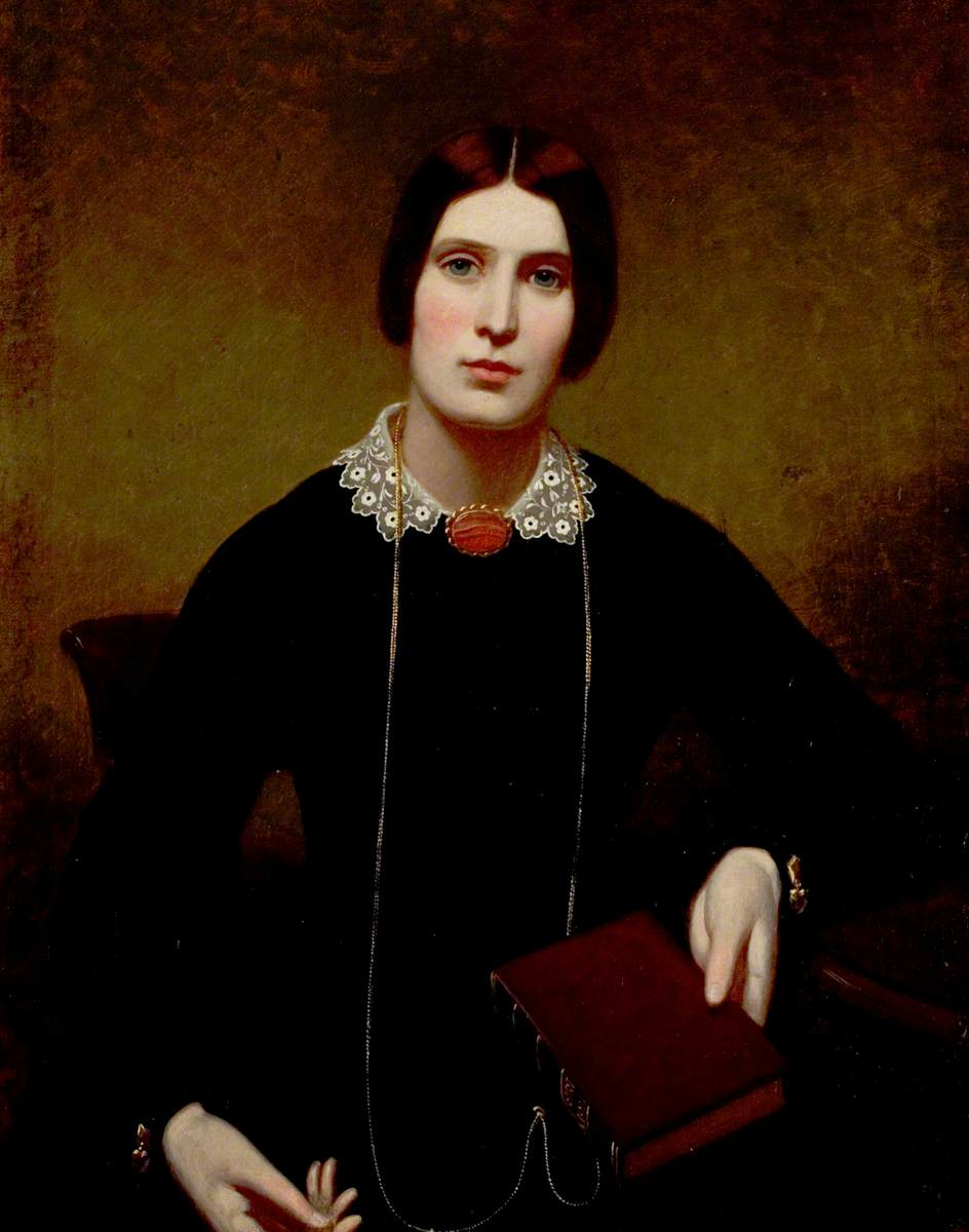 Portrait of a Lady of the Worthington Family Holding a Holy Bible