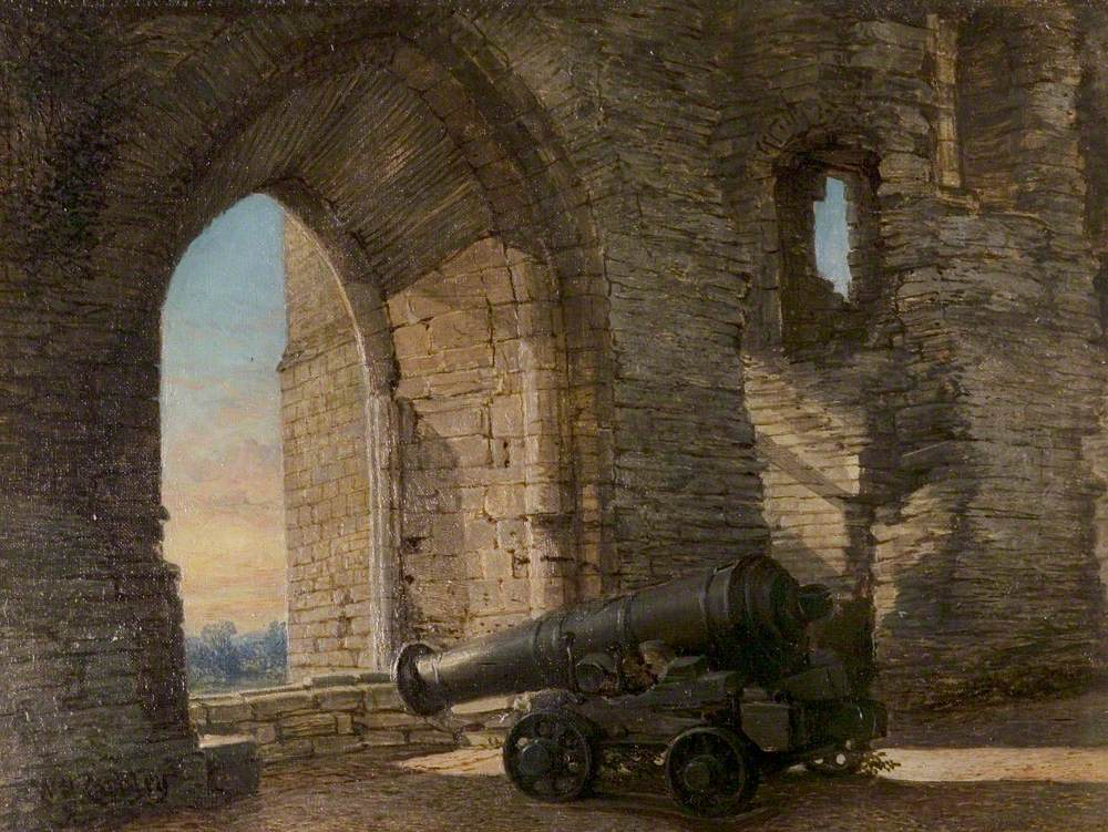Newark Castle, Nottinghamshire, with Sebastopol Cannon
