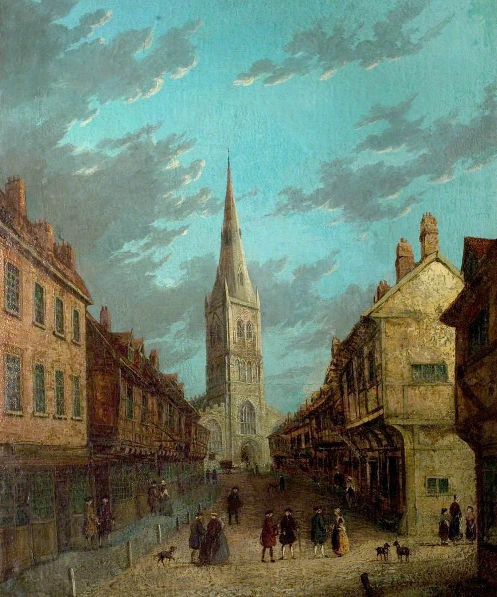View of Kirkgate, Newark, Nottinghamshire