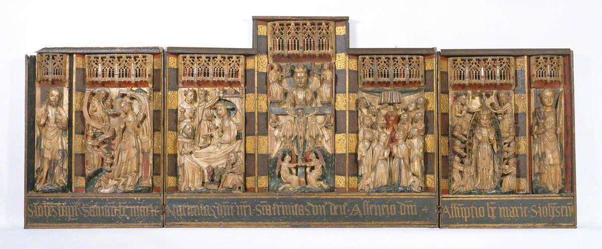 Altarpiece Containing Scenes from the Passion of Christ