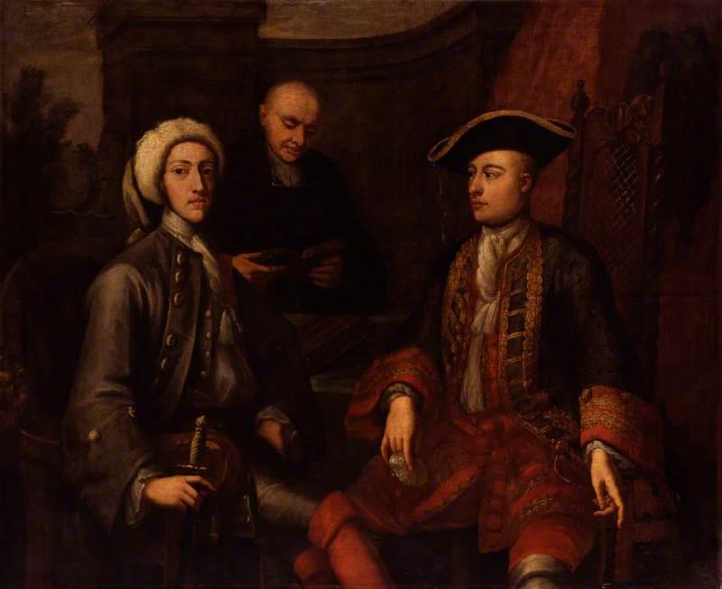 John Montagu, 2nd Duke of Montagu, James O'Hara, 2nd Baron Tyrawley, and an unknown man