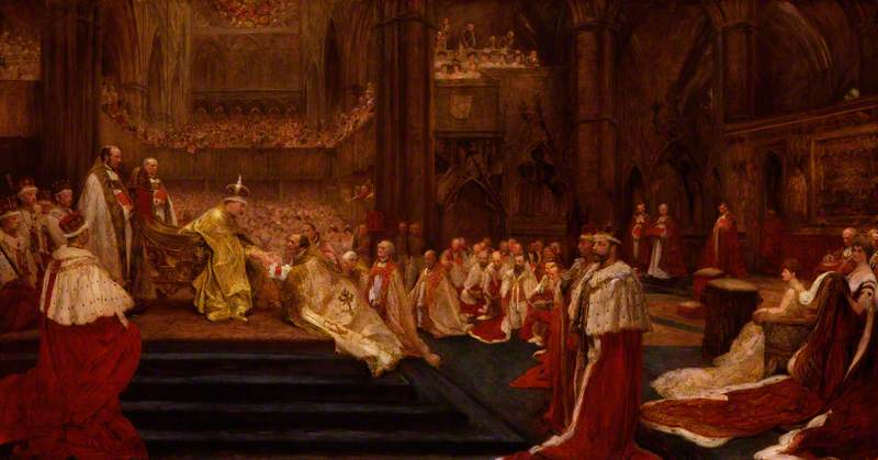 The Homage-Giving: Westminster Abbey, 9 August, 1902