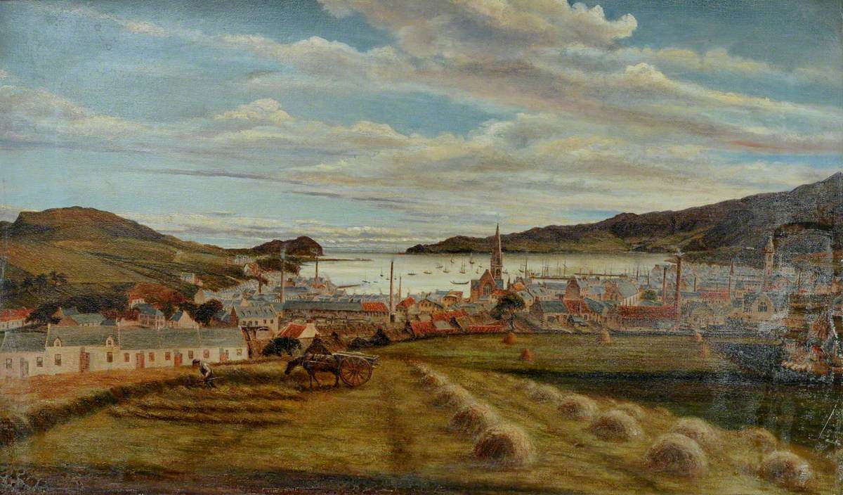 Haymaking above Campbeltown